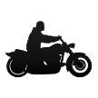 Motorcycle Glyph